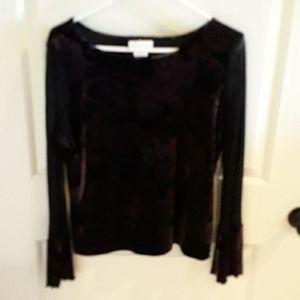 Fancy velour pullover top
